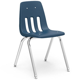 Virco® 9016 Classic Series™ Classroom Chair - Navy Vented Back - Pkg Qty 4