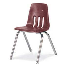 Virco® 9016 Classic Series™ Classroom Chair - Burgundy Vented Back - Pkg Qty 4