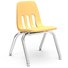 Virco® 9012 Classic Series™ Classroom Chair - Yellow Vented Back - Pkg Qty 4