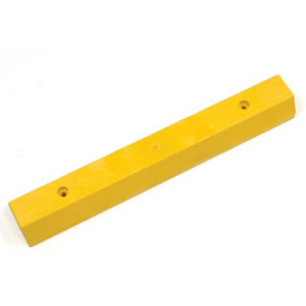 "Parking Curb, Recycled Plastic, Yellow, Concrete Installation 36""L x 5-3/4""W x 3-1/2""H"