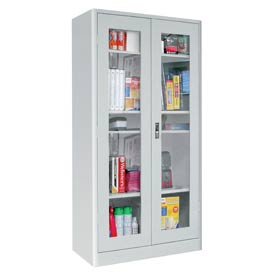 Sandusky Elite Radius Edge Series Clearview Storage Cabinet ER4V362472 - 36x24x72, Gray