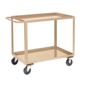 Jamco Putty All Welded 2 Shelf Stock Cart SB124 24x18 1200 Lb. Cap.