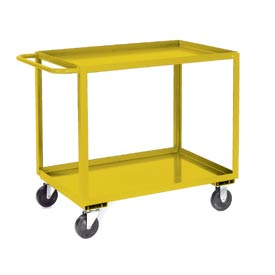 Jamco Yellow All Welded 2 Shelf Stock Cart SB360 60x30 1200 Lb. Cap.