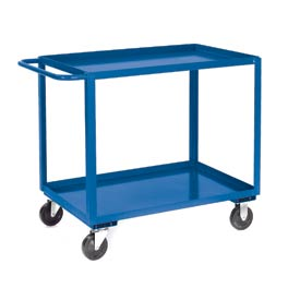 Jamco Blue All Welded 2 Shelf Stock Cart SB360 60x30 1200 Lb. Cap.