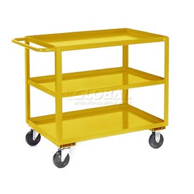 Jamco Yellow All Welded 3 Shelf Stock Cart SC124 24x18 1200 Lb. Cap.