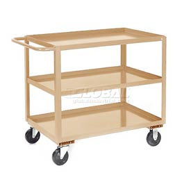 Jamco Putty All Welded 3 Shelf Stock Cart SC248 48x24 1200 Lb. Cap.