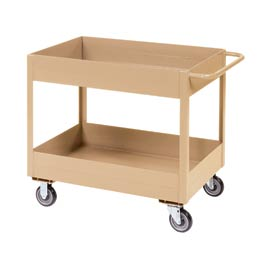 "Jamco Putty All Welded 6"" Deep Shelf Cart LS236 1200 Lb. Cap. 36x24"