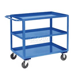 Jamco Blue All Welded 3 Shelf Stock Cart SC360 60x30 1200 Lb. Cap.