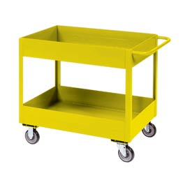 "Jamco Yellow All Welded 6"" Deep Shelf Cart LS248 1200 Lb. Cap. 48x24"