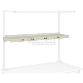 "60"" Shelf with Electrical-Tan"