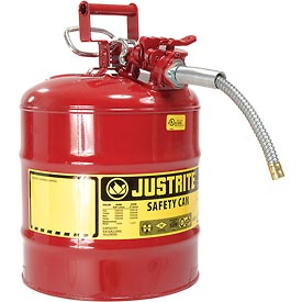 "Justrite® Type II Safety Can - 5 Gallon with 5/8"" Hose, 7250120"