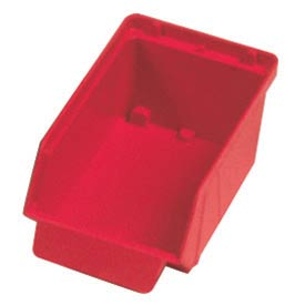 "Quantum Plastic Stack And Lock Bin QCS20 with ID Tab 3-7/8""W x 7""D x 2-7/8""H Red - Pkg Qty 48"