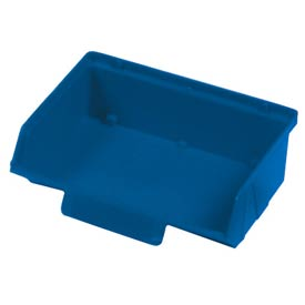 "Quantum Plastic Stack And Lock Bin QCS220 with ID Tab 8-7/8""W x 7""D x 2-7/8""H Blue - Pkg Qty 24"