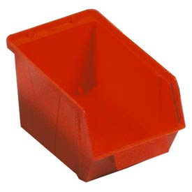"Quantum Plastic Stack And Lock Bin QCS30 with ID Tab 5-7/8""W x 10-14""D x 5-1/8"" Red - Pkg Qty 12"