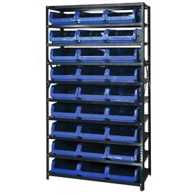 Quantum MSU-531 Steel Shelving With 27 Magnum Giant Hopper Bins Blue, 18x42x75
