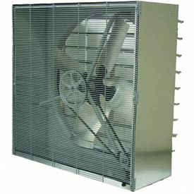 TPI 48 Cabinet Exhaust Fan With Shutters CBT-48B-3 1 HP 21500 CFM 3 PH