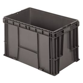 "Buckhorn Straight Wall Container SW241514F101000 Solid 24""L x 15""W x 14-1/2""H, Gray"