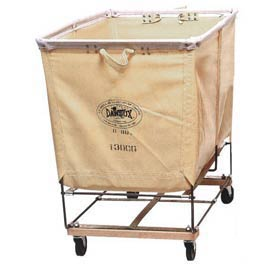 Dandux White Canvas Elevated Basket Bulk Truck 400130C04 4 Bushel Capacity