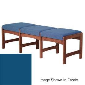 Three Person Bench - Mahogany/Blue Vinyl