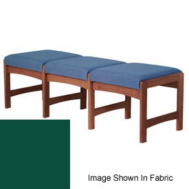 Three Person Bench - Mahogany/Green Vinyl