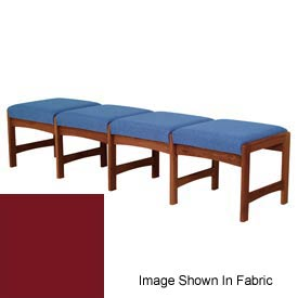 Four Person Bench - Mahogany/Burgundy Vinyl