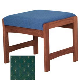 One Person Bench - Mahogany/Green Arch Pattern Fabric