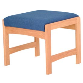 One Person Bench - Light Oak/Blue Fabric