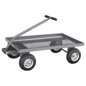 "Jamco Expanded Metal Deck Wagon Truck UW248 48 x 24 with 1-1/2"" Lip Deck"