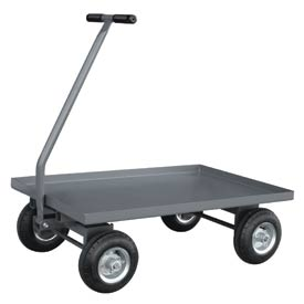 "Jamco Solid Steel Deck Wagon Truck UV248 48 x 24 with 1-1/2"" Lip Deck"