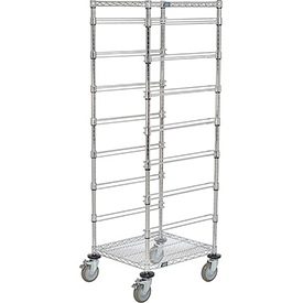 "21""L x 24""W x 69""H Chrome Wire Cart - 7 Level"