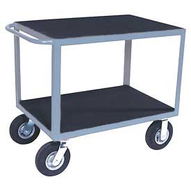 "Vinyl Matted Standard Handle Cart w/ 8"" Pneumatic Casters - 30 x 36"