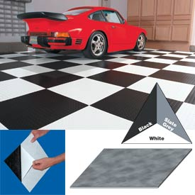 "Vinyl Tile Matting With Adhesive 24""x24"" Levant Pattern White Case of 10"