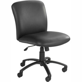 Big & Tall Mid Back Chair Black Vinyl