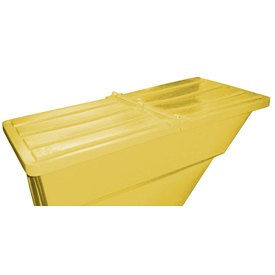 Yellow Hinged Lid for Bayhead Products 5/8 Cu Yd Self-Dumping Plastic Hopper