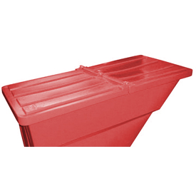 Red Hinged Lid for Bayhead Products 1.1 Cu Yd Self-Dumping Plastic Hopper
