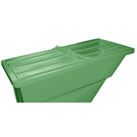 Green Hinged Lid for Bayhead Products 2.2 Cu Yd Self-Dumping Plastic Hopper