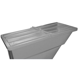 Gray Hinged Lid for Bayhead Products 2.2 Cu Yd Self-Dumping Plastic Hopper