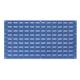 Louvered Wall Panel Without Bins 18x19 Blue - Pkg Qty 4