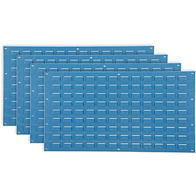 Louvered Wall Panel Without Bins 36x19 Blue - Pkg Qty 4
