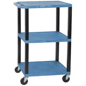 Luxor WT42BU-B Blue Tuffy Garage & Shop Utility Cart 250 Lb. Cap.
