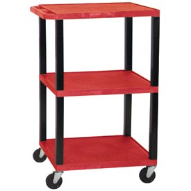 H. Wilson WT42R-B Red Tuffy Garage & Shop Utility Cart 250 Lb. Cap.