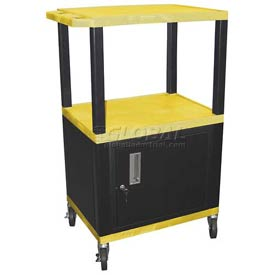 H. Wilson WT42C2 Yellow Tuffy Garage & Shop Utility Cart with Cabinet 250 Lb. Cap.