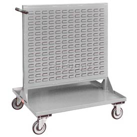 "Jamco Steel Mobile Double Sided Bin Rack RF336-U5 - All-Welded 36"" x 46"", 5"" Casters"