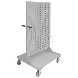"Jamco Steel Mobile Double Sided Bin Rack RE336-N8 - All-Welded 36"" x 68"", 8"" Casters"