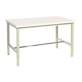"72""W x 36""D Production Workbench - Plastic Laminate Square Edge - Tan"
