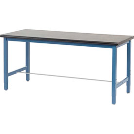 "72""W x 36""D Production Workbench - Phenolic Resin Safety Edge - Blue"