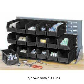 "Quantum QBR-3619-220-32CO Bench Rack With 32-7-3/8""D Conductive Stacking Bins, 36x8x19"