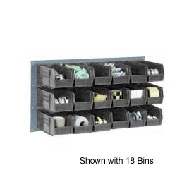 """Quantum QLP-3619-220-32CO Louvered Panel with 32 7-3/8""""D Conductive Stacking Bins, 36x19"""