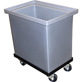 Bayhead SS-19-C Plastic Container With Dolly 21x14x23-1/2