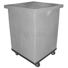 Bayhead LM-29-C Plastic Container With Lid and Dolly 23x23x33-1/2